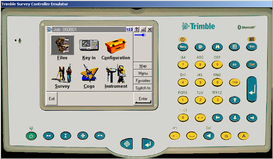 Trymble Survey Controller Emulator