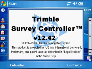 Trimble Survey Controller v12.42 screen shot